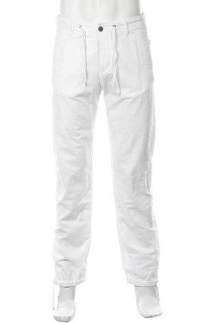 Мъжки панталон H&M L.O.G.G., Размер S, Цвят Бял, 52% лен, 48% памук, Цена 29,40лв.