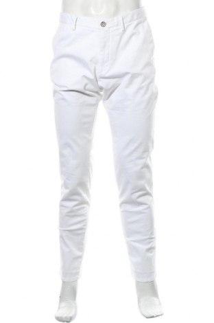 Ανδρικό παντελόνι Massimo Dutti, Μέγεθος L, Χρώμα Λευκό, 98% βαμβάκι, 2% ελαστάνη, Τιμή 16,98€