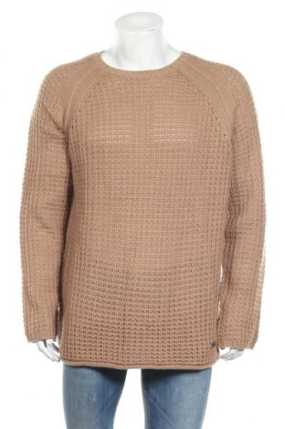 Мъжки пуловер Brave Soul, Размер 4XL, Цвят Кафяв, 70% акрил, 30% вълна, Цена 30,40лв.