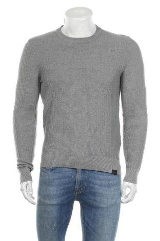 Мъжки пуловер Pier One, Размер M, Цвят Сив, Памук, Цена 52,00лв.