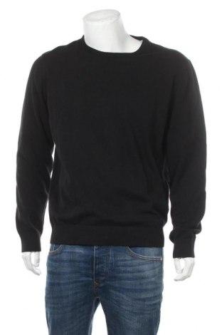 Мъжки пуловер Pier One, Размер XXL, Цвят Черен, Памук, Цена 22,40лв.