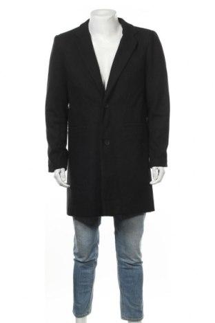 Ανδρικά παλτό Only & Sons, Μέγεθος L, Χρώμα Μαύρο, Μαλλί, Τιμή 35,06€