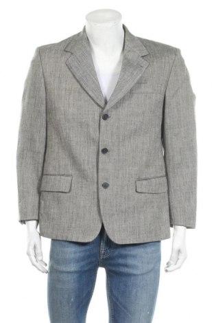 Мъжко сако Walbusch, Размер L, Цвят Сив, 50% лен, 50% полиестер, Цена 15,12лв.