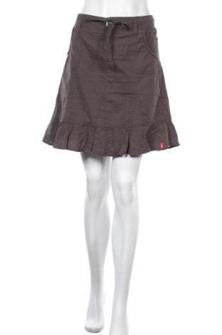 Пола Edc By Esprit, Размер L, Цвят Сив, 55% лен, 45% памук, Цена 5,32лв.