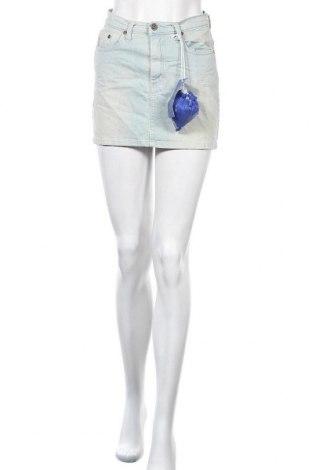 Пола Please, Размер S, Цвят Син, 98% памук, 2% еластан, Цена 15,48лв.