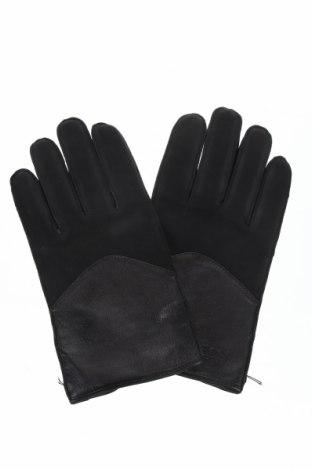 Γάντια Hugo Boss, Χρώμα Μαύρο, Γνήσιο δέρμα, Τιμή 65,33€
