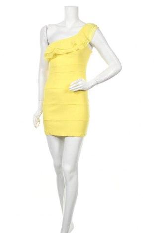 Рокля Fishbone, Размер S, Цвят Жълт, Полиестер, Цена 25,94лв.