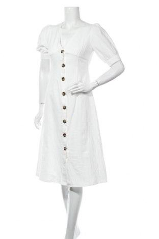 Рокля Glamorous, Размер M, Цвят Бял, 70% памук, 30% лен, Цена 42,16лв.