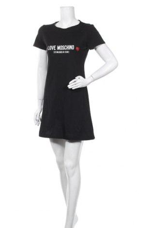 Рокля Love Moschino, Размер S, Цвят Черен, Памук, Цена 342,37лв.