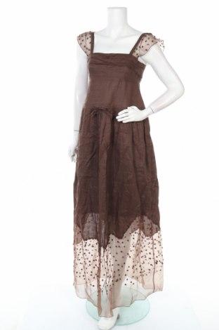 Φόρεμα Scervino Street, Μέγεθος S, Χρώμα Καφέ, Ραμί, Τιμή 67,99€