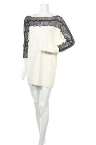 Φόρεμα TWINSET, Μέγεθος S, Χρώμα Εκρού, 44% βισκόζη, 40% πολυαμίδη, 13% μαλλί, 3% ελαστάνη, Τιμή 45,08€