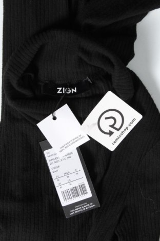 Рокля Zign, Размер M, Цвят Черен, 60% полиестер, 35% вискоза, 5% еластан, Цена 51,75лв.