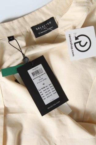 Tunică Selected Femme, Mărime L, Culoare Bej, 70% modal, 30% poliester, Preț 219,57 Lei