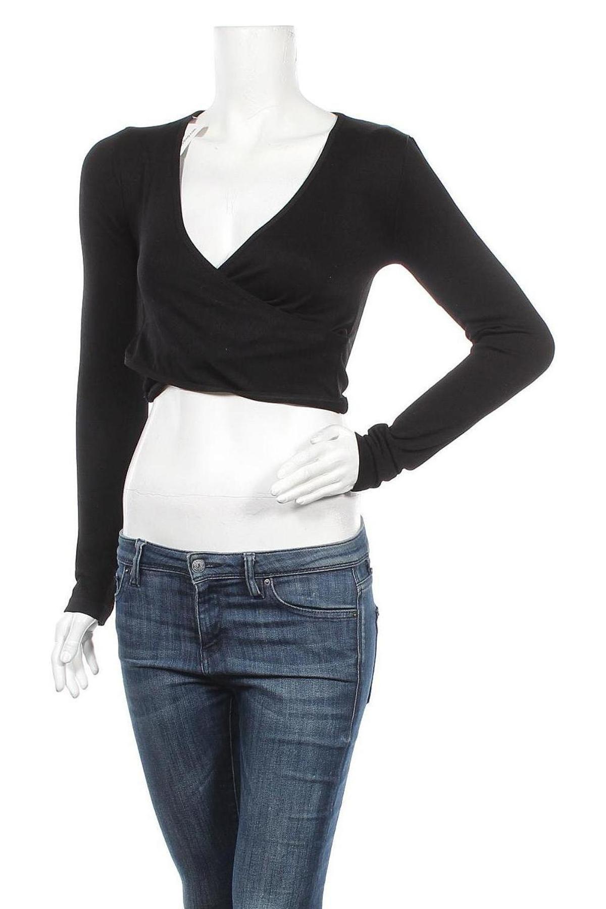 Γυναικεία μπλούζα BDG, Μέγεθος M, Χρώμα Μαύρο, 93% πολυαμίδη, 7% ελαστάνη, Τιμή 16,24€