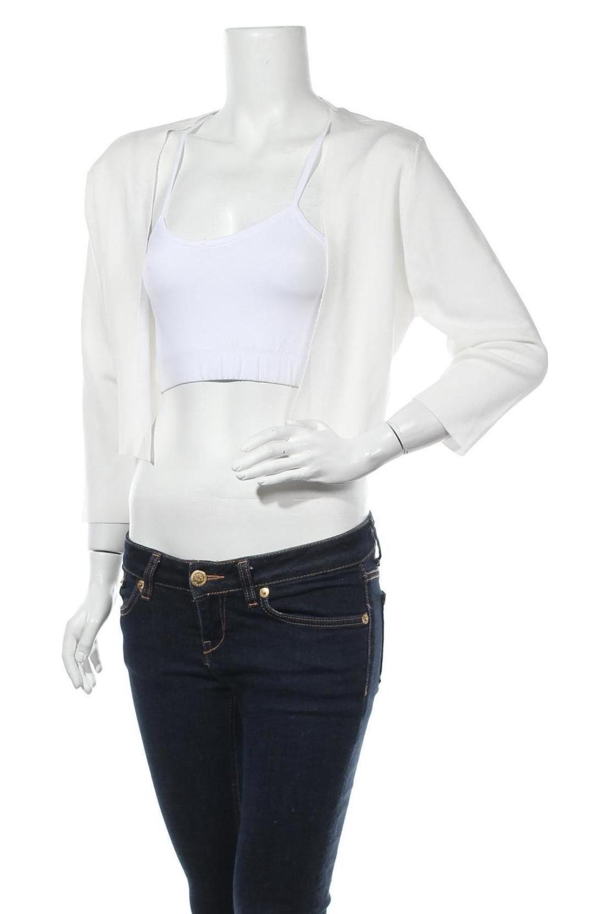 Дамска жилетка Cream, Размер XL, Цвят Бял, 63% вискоза, 37% полиамид, Цена 14,49лв.