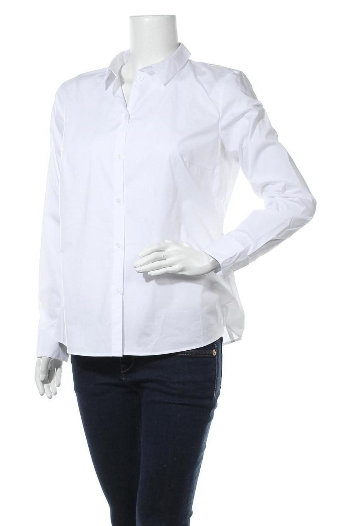 Дамска риза Jake*s, Размер L, Цвят Бял, 73% памук, 23% полиестер, 4% еластан, Цена 42,00лв.