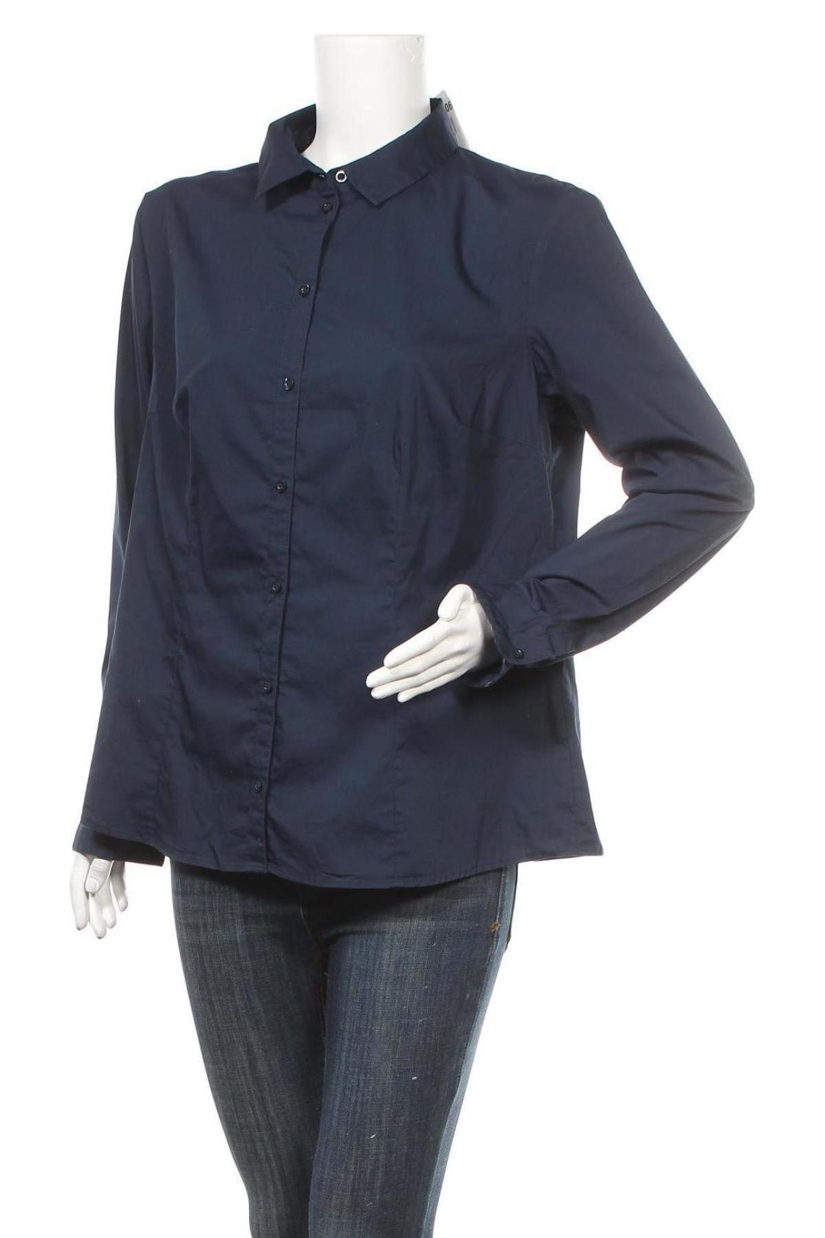Дамска риза Montego, Размер XL, Цвят Син, 73% памук, 23% полиестер, 4% еластан, Цена 19,32лв.