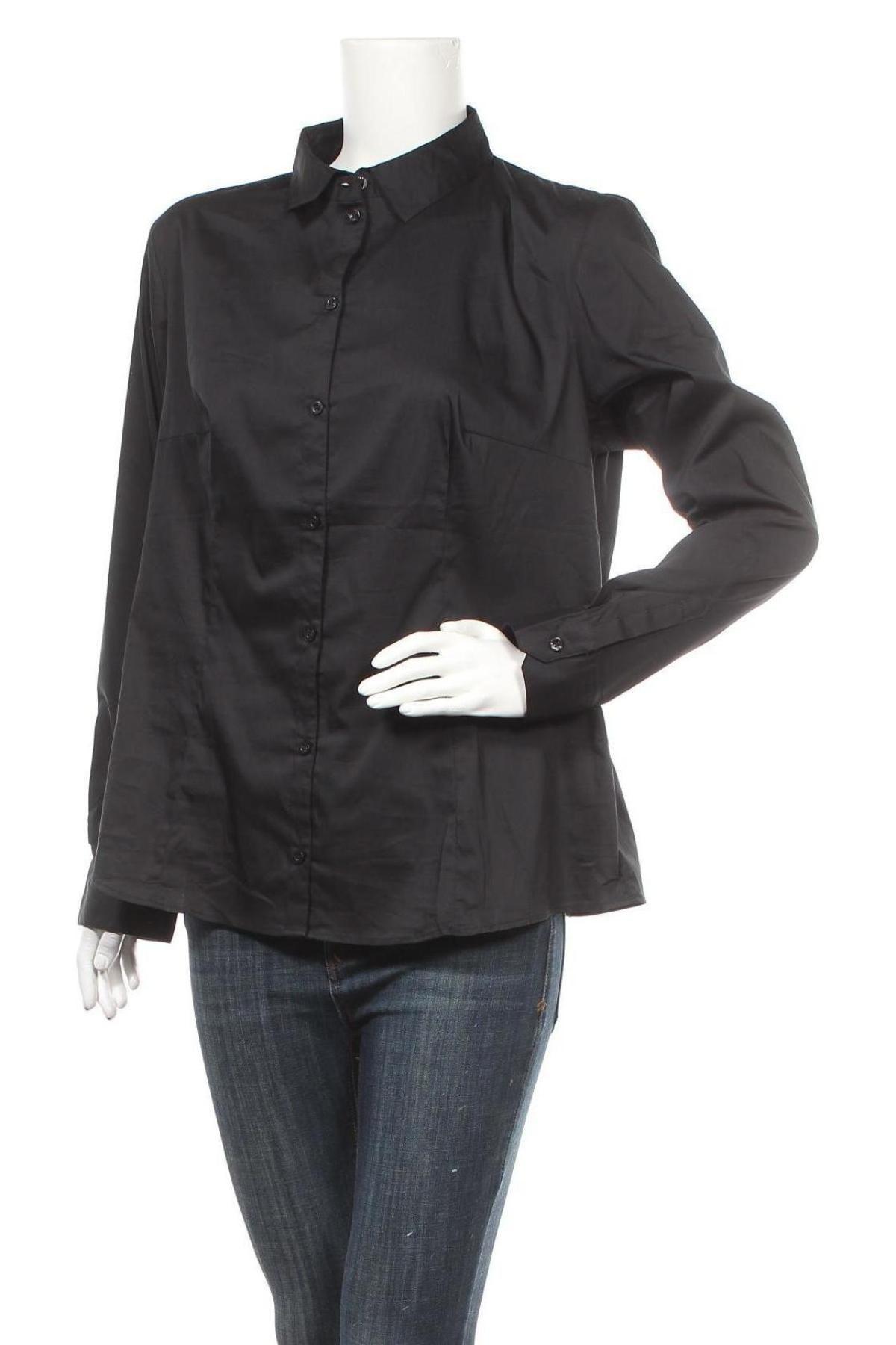 Дамска риза Montego, Размер XL, Цвят Черен, 73% памук, 23% полиестер, 4% еластан, Цена 54,00лв.