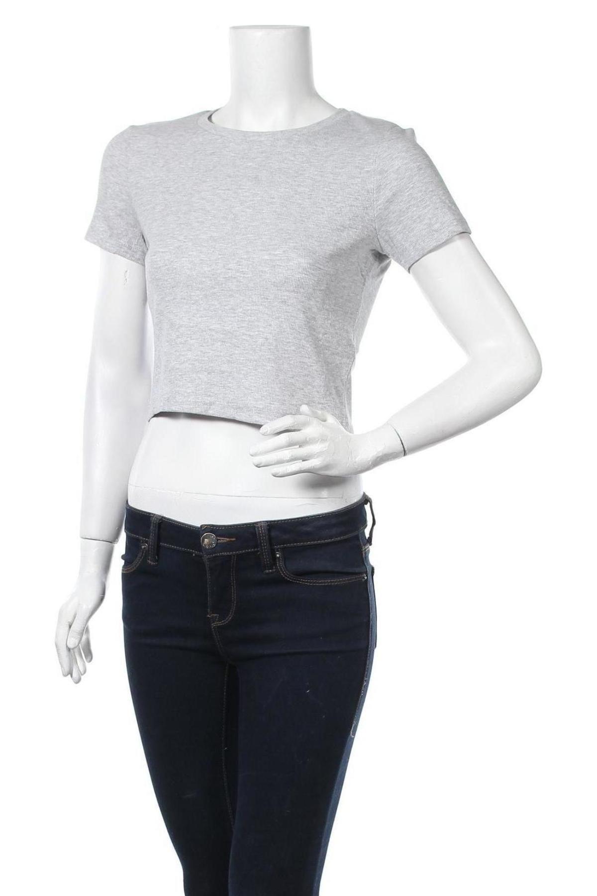 Дамска тениска Even&Odd, Размер L, Цвят Сив, 90% памук, 5% вискоза, 5% еластан, Цена 12,50лв.