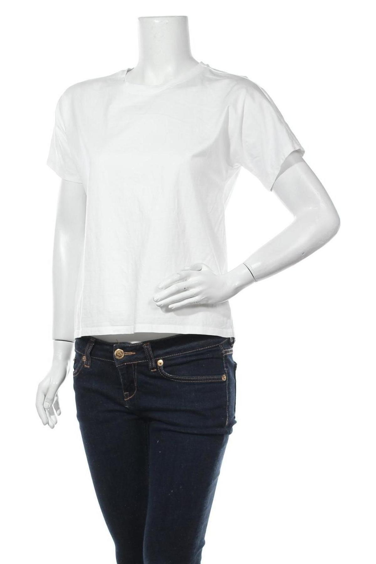 Дамска тениска Massimo Dutti, Размер S, Цвят Бял, Памук, Цена 19,60лв.
