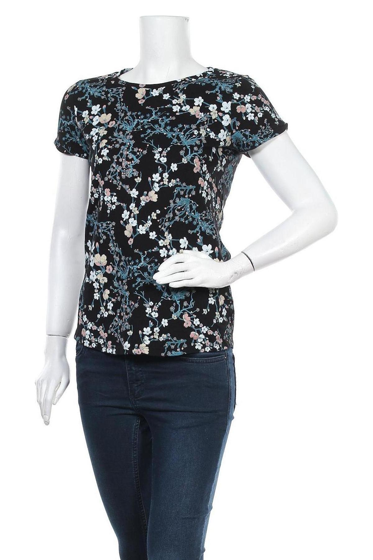 Дамска тениска Q/S by S.Oliver, Размер M, Цвят Черен, Памук, Цена 27,00лв.