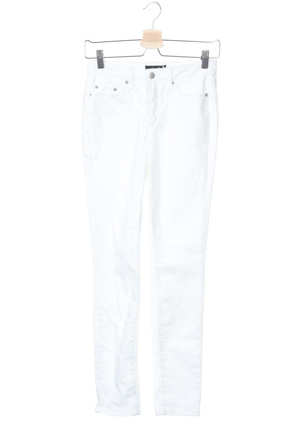 Дамски дънки Aniston, Размер XS, Цвят Бял, 98% памук, 2% еластан, Цена 26,66лв.