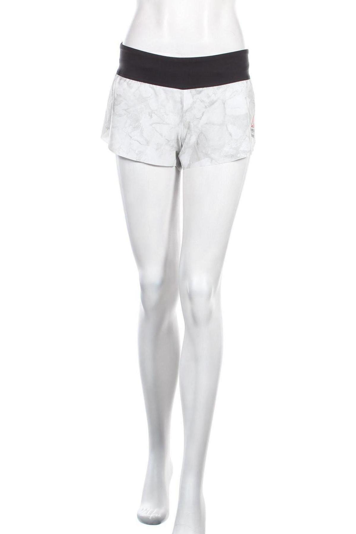 Γυναικείο κοντό παντελόνι Reebok, Μέγεθος M, Χρώμα Γκρί, 86% πολυεστέρας, 14% ελαστάνη, Τιμή 12,06€