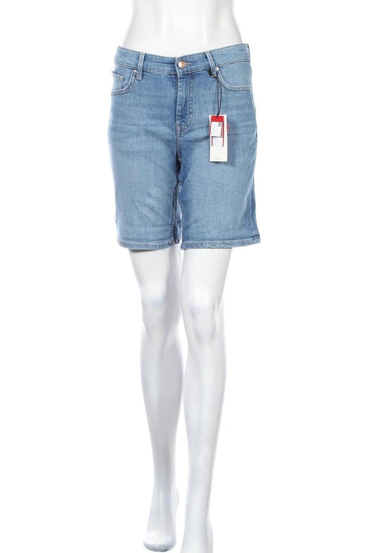 Γυναικείο κοντό παντελόνι S.Oliver, Μέγεθος S, Χρώμα Μπλέ, 85% βαμβάκι, 14% πολυεστέρας, 1% ελαστάνη, Τιμή 24,19€