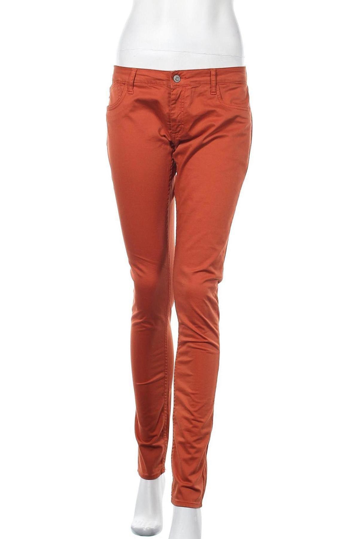 Γυναικείο παντελόνι Le Temps Des Cerises, Μέγεθος L, Χρώμα Πορτοκαλί, 97% βαμβάκι, 3% ελαστάνη, Τιμή 9,50€
