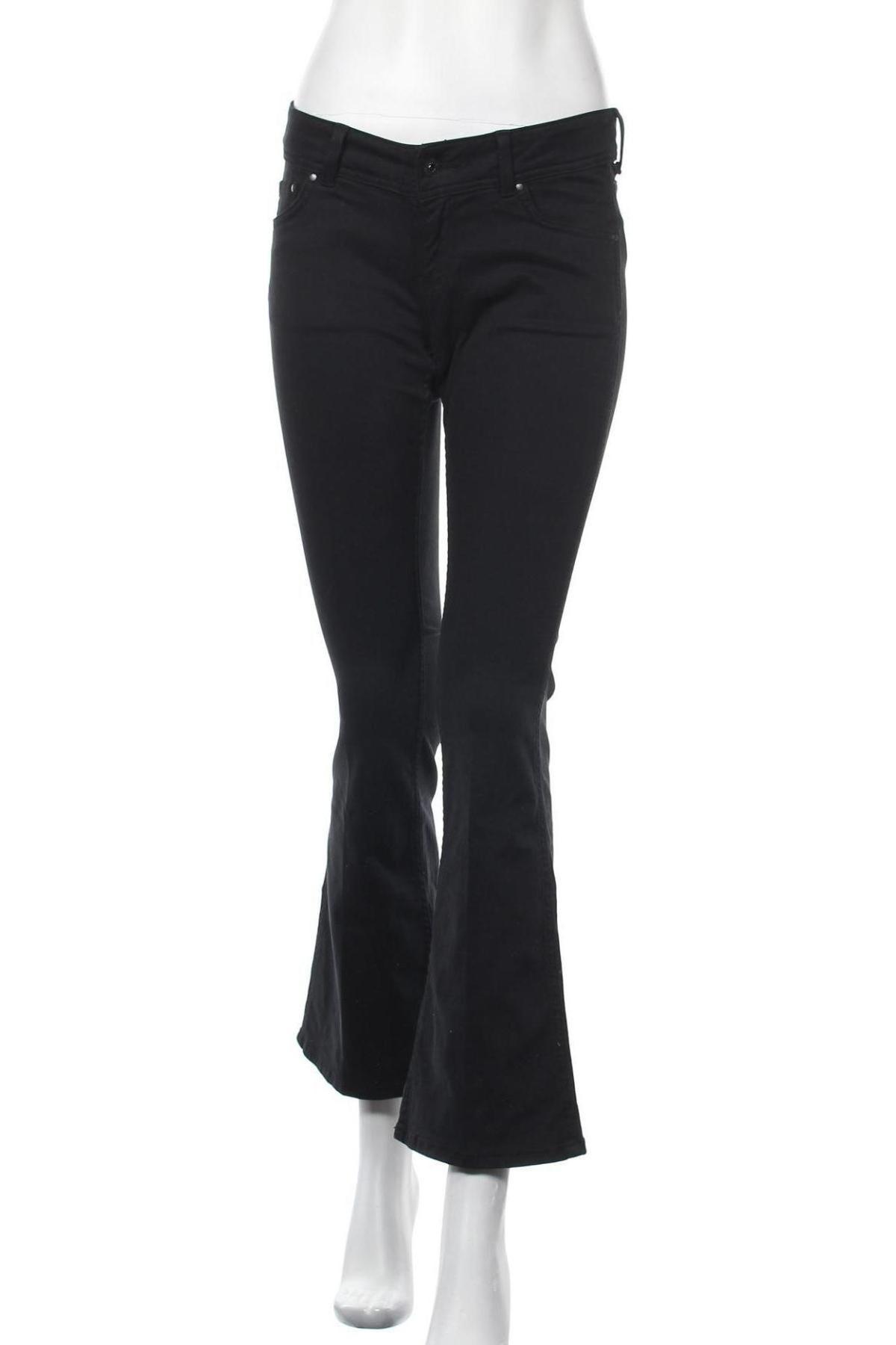 Γυναικείο παντελόνι Pepe Jeans, Μέγεθος S, Χρώμα Μαύρο, 97% βαμβάκι, 3% ελαστάνη, Τιμή 61,08€