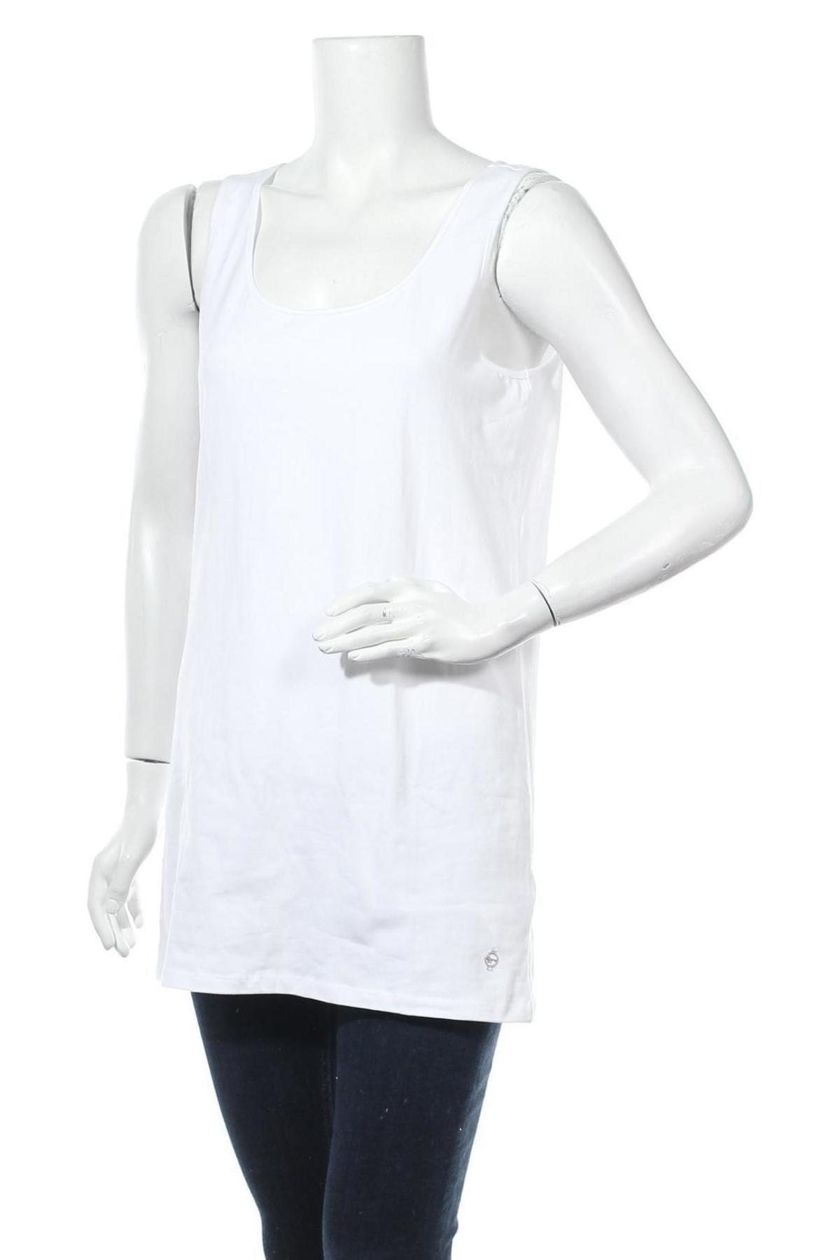 Дамски потник Tamaris, Размер XL, Цвят Бял, 95% памук, 5% еластан, Цена 20,25лв.