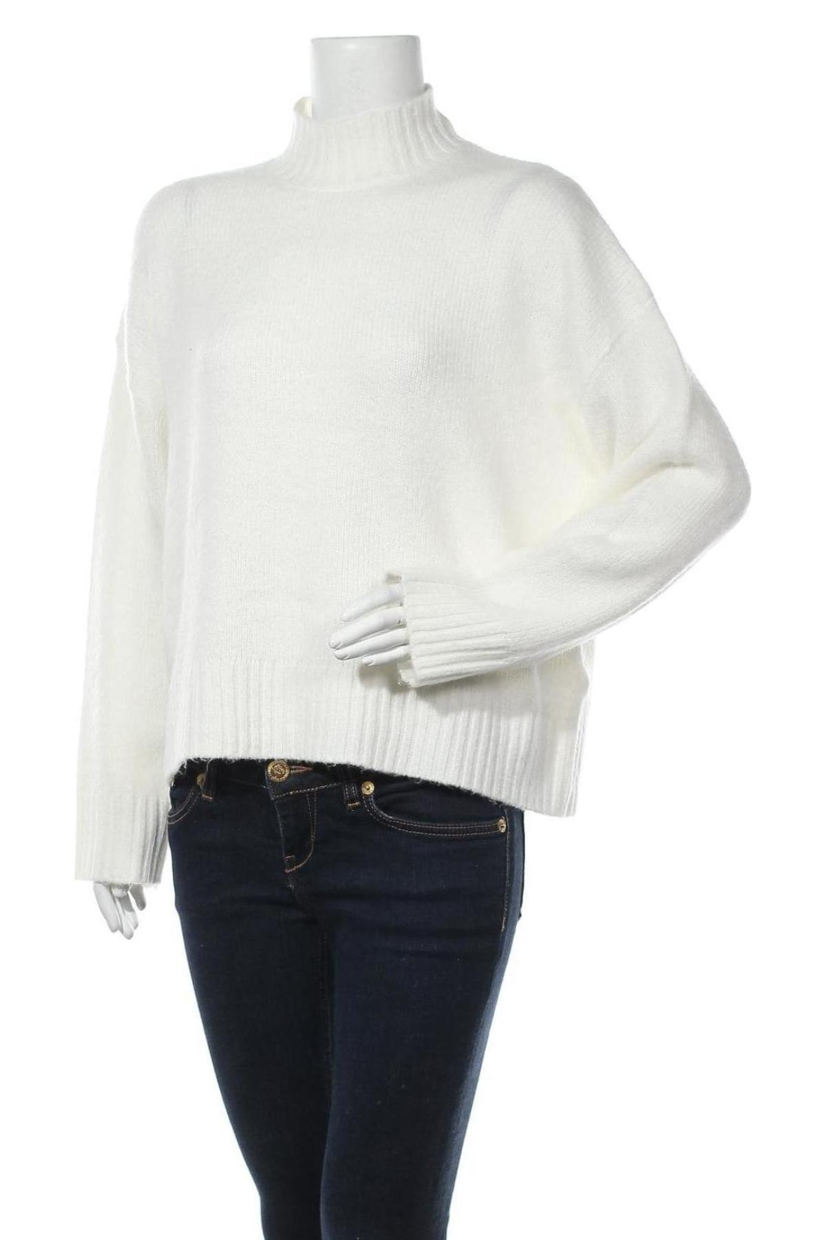 Дамски пуловер Even&Odd, Размер L, Цвят Бял, 62% полиестер, 34% полиакрил, 4% еластан, Цена 36,75лв.