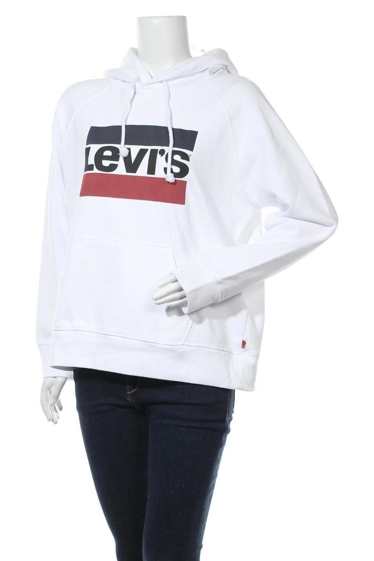 Γυναικείο φούτερ Levi's, Μέγεθος M, Χρώμα Λευκό, Βαμβάκι, Τιμή 31,70€