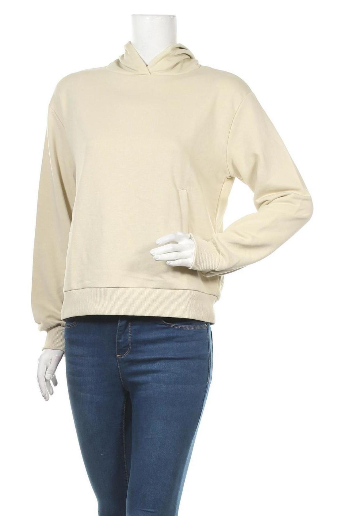 Γυναικείο φούτερ Na-Kd, Μέγεθος M, Χρώμα  Μπέζ, 58% βαμβάκι, 42% πολυεστέρας, Τιμή 13,68€