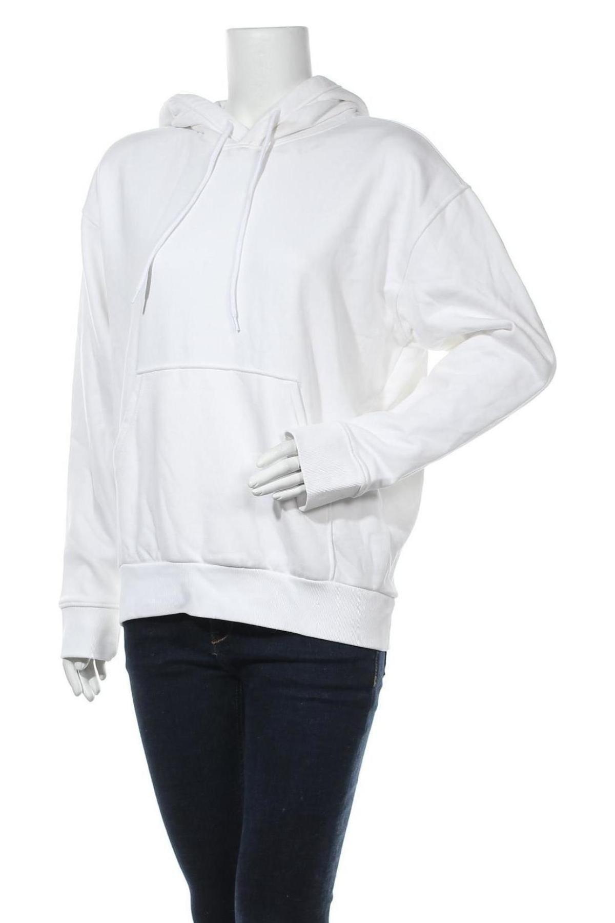 Γυναικείο φούτερ Weekday, Μέγεθος XS, Χρώμα Λευκό, 80% βαμβάκι, 20% πολυεστέρας, Τιμή 12,86€