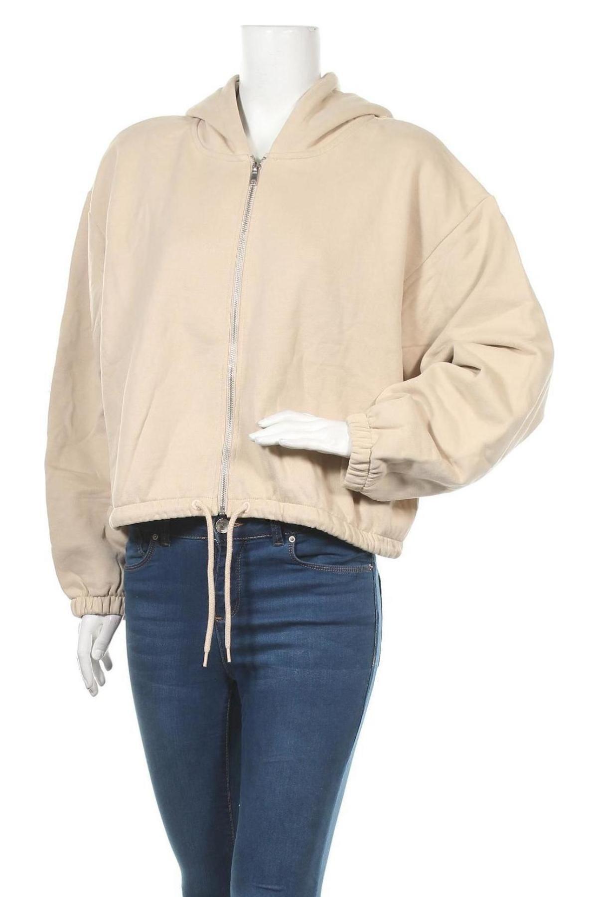 Γυναικείο φούτερ Weekday, Μέγεθος M, Χρώμα  Μπέζ, Βαμβάκι, Τιμή 16,01€
