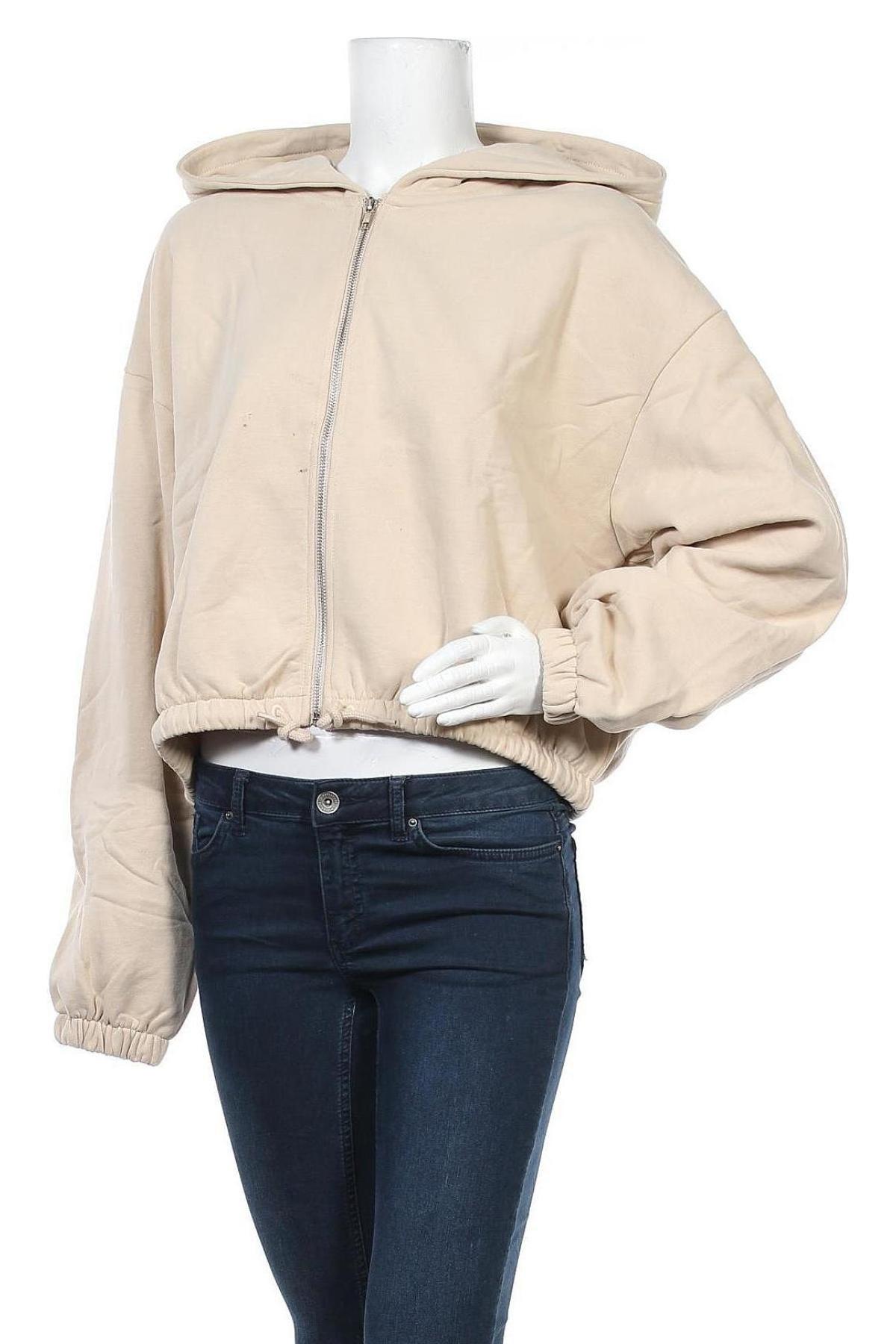 Γυναικείο φούτερ Weekday, Μέγεθος L, Χρώμα  Μπέζ, Βαμβάκι, Τιμή 16,01€