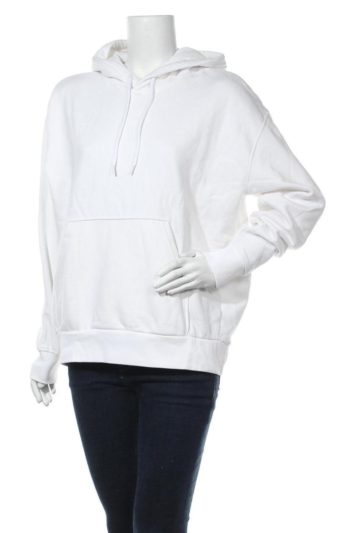 Γυναικείο φούτερ Weekday, Μέγεθος S, Χρώμα Λευκό, 80% βαμβάκι, 20% πολυεστέρας, Τιμή 12,86€