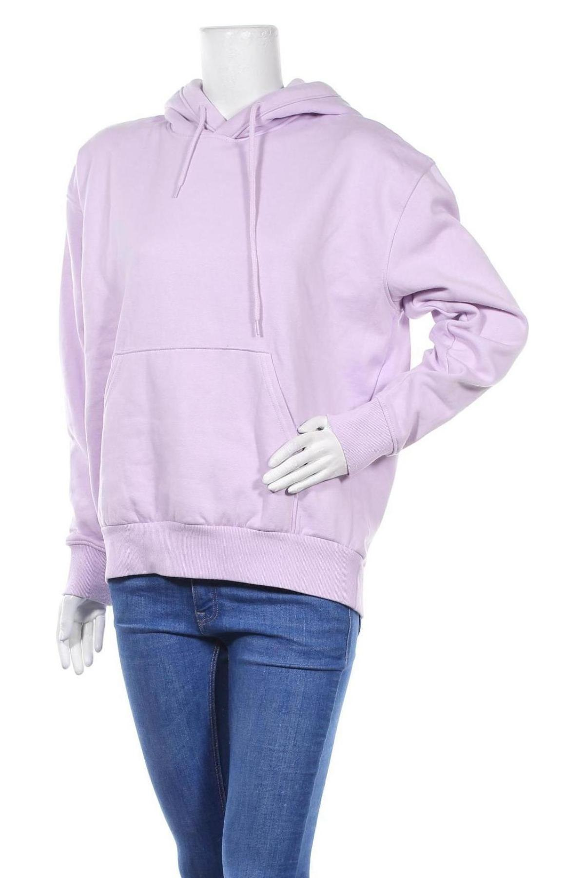 Γυναικείο φούτερ Weekday, Μέγεθος XS, Χρώμα Βιολετί, 80% βαμβάκι, 20% πολυεστέρας, Τιμή 10,18€