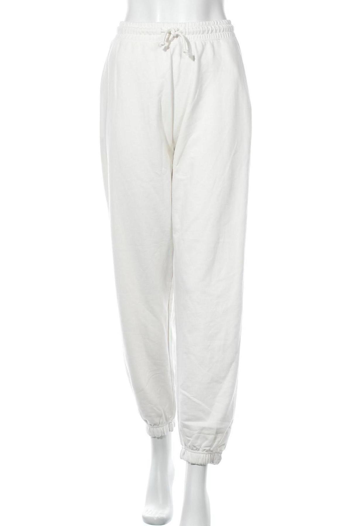 Γυναικείο αθλητικό παντελόνι Missguided, Μέγεθος XL, Χρώμα Λευκό, 55% πολυεστέρας, 45% βαμβάκι, Τιμή 14,69€