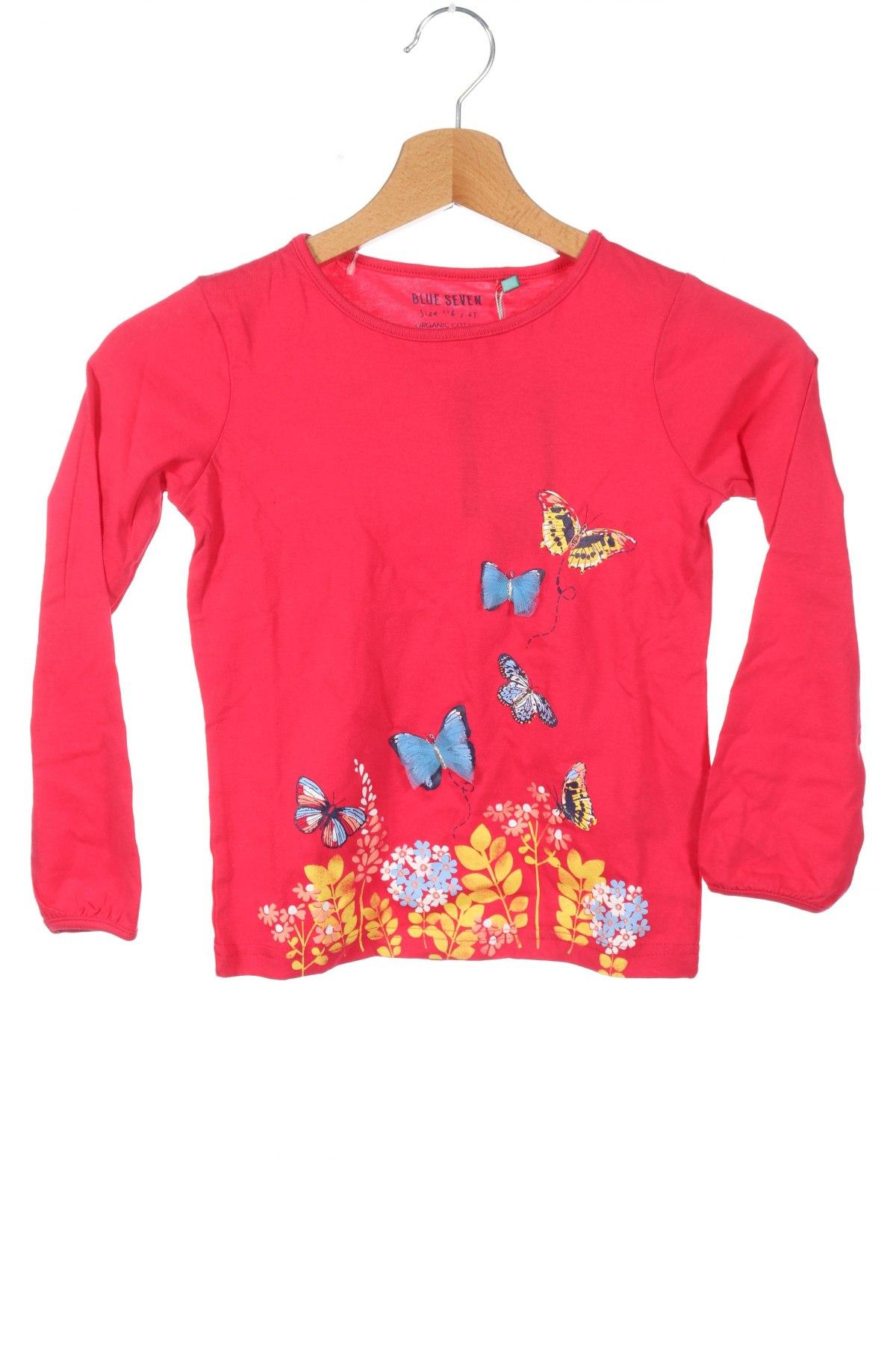 Παιδική μπλούζα Blue Seven, Μέγεθος 5-6y/ 116-122 εκ., Χρώμα Ρόζ , Βαμβάκι, Τιμή 7,42€