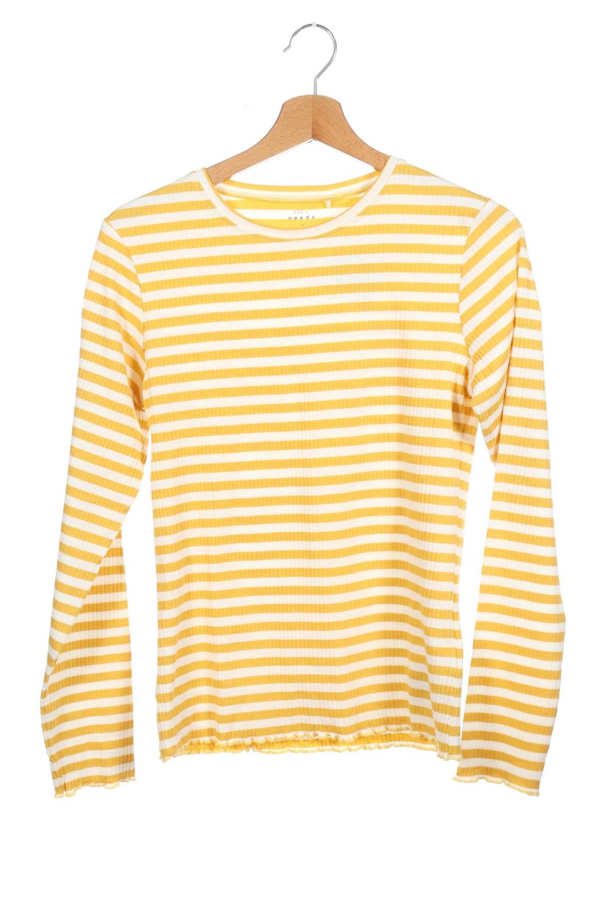 Παιδική μπλούζα Name It, Μέγεθος 12-13y/ 158-164 εκ., Χρώμα Κίτρινο, 95% βαμβάκι, 5% ελαστάνη, Τιμή 7,09€