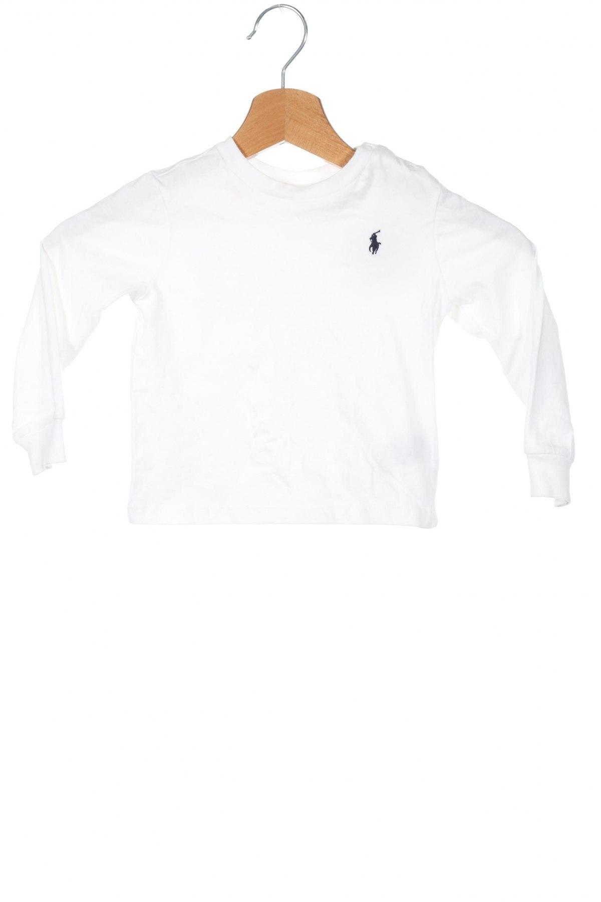 Παιδική μπλούζα Ralph Lauren, Μέγεθος 9-12m/ 74-80 εκ., Χρώμα Λευκό, Βαμβάκι, Τιμή 22,81€