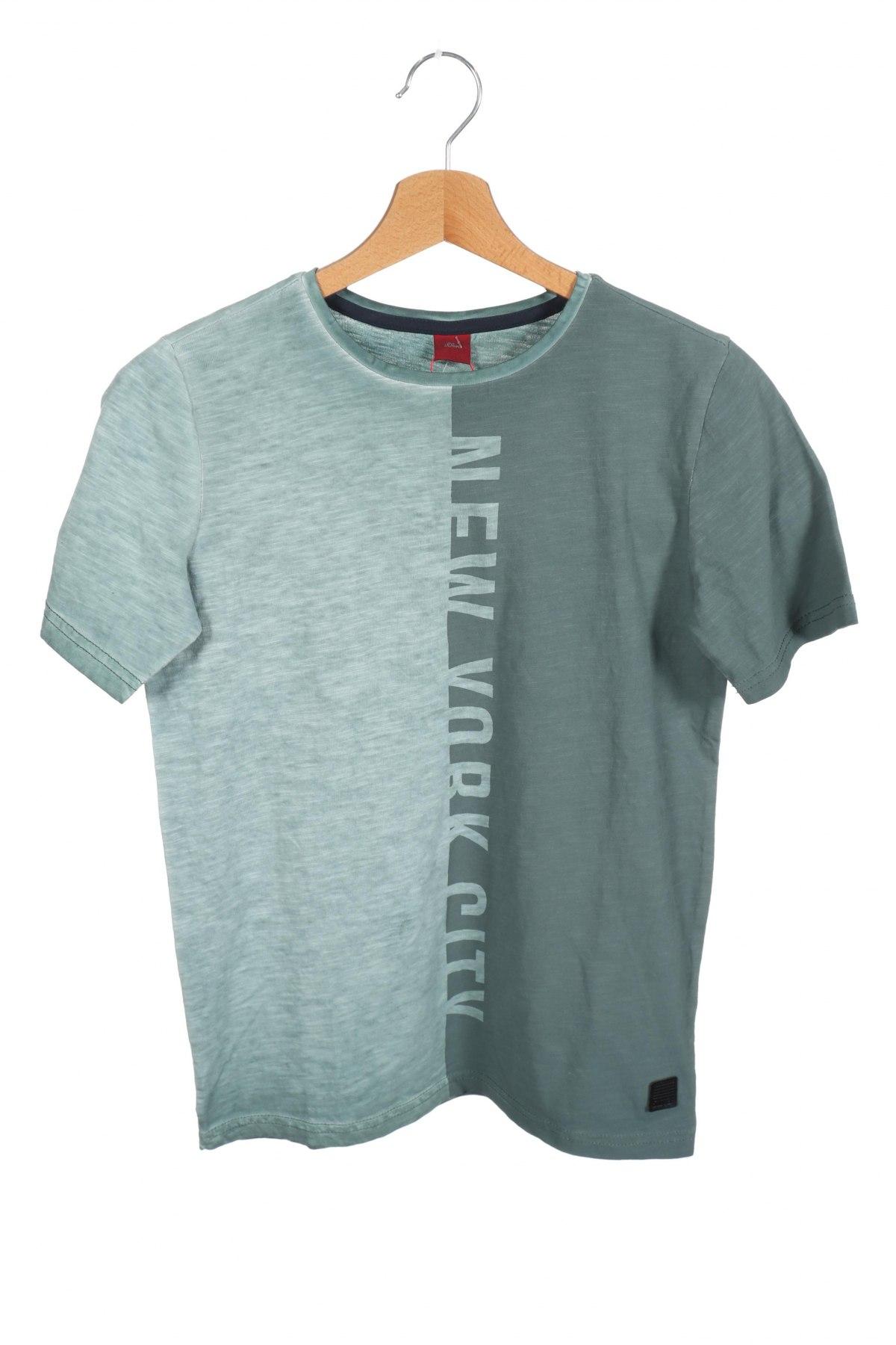 Παιδικό μπλουζάκι S.Oliver, Μέγεθος 10-11y/ 146-152 εκ., Χρώμα Πράσινο, Βαμβάκι, Τιμή 13,67€
