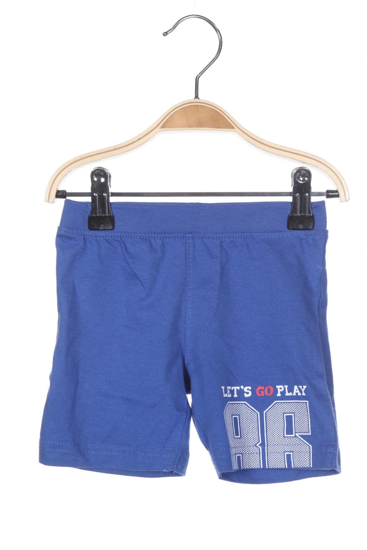 Παιδικό κοντό παντελόνι Blue Seven, Μέγεθος 3-6m/ 62-68 εκ., Χρώμα Μπλέ, 100% βαμβάκι, Τιμή 11,21€