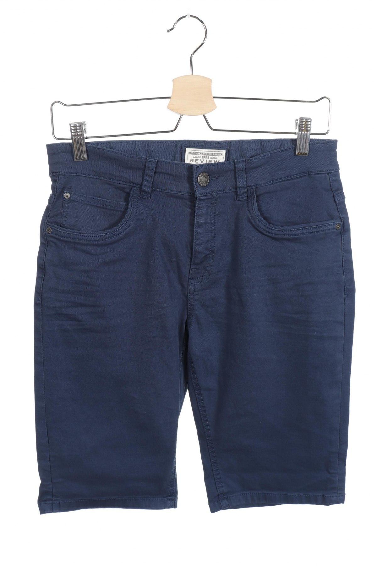 Παιδικό κοντό παντελόνι Review, Μέγεθος 15-18y/ 170-176 εκ., Χρώμα Μπλέ, 97% βαμβάκι, 3% ελαστάνη, Τιμή 12,80€