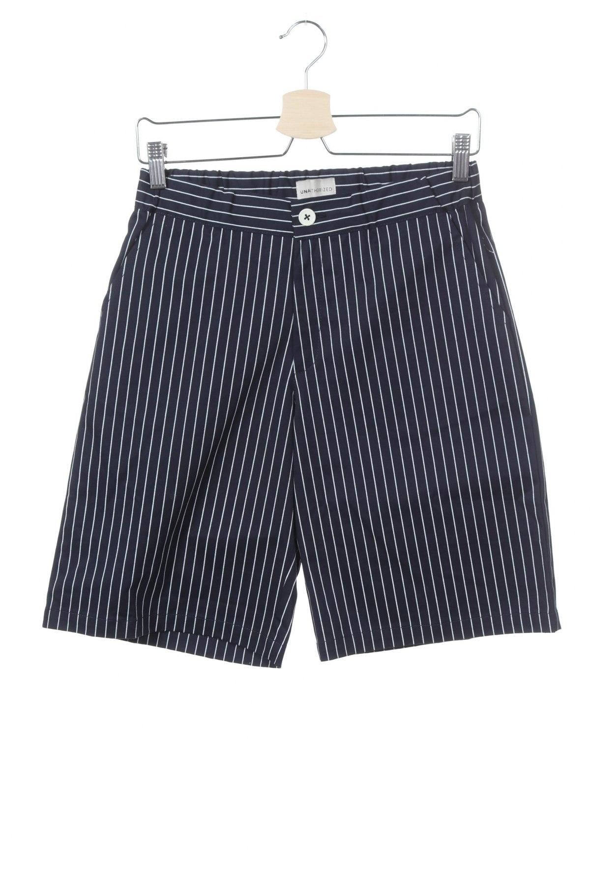 Παιδικό κοντό παντελόνι Unauthorized, Μέγεθος 12-13y/ 158-164 εκ., Χρώμα Μπλέ, 97% βαμβάκι, 3% ελαστάνη, Τιμή 12,06€