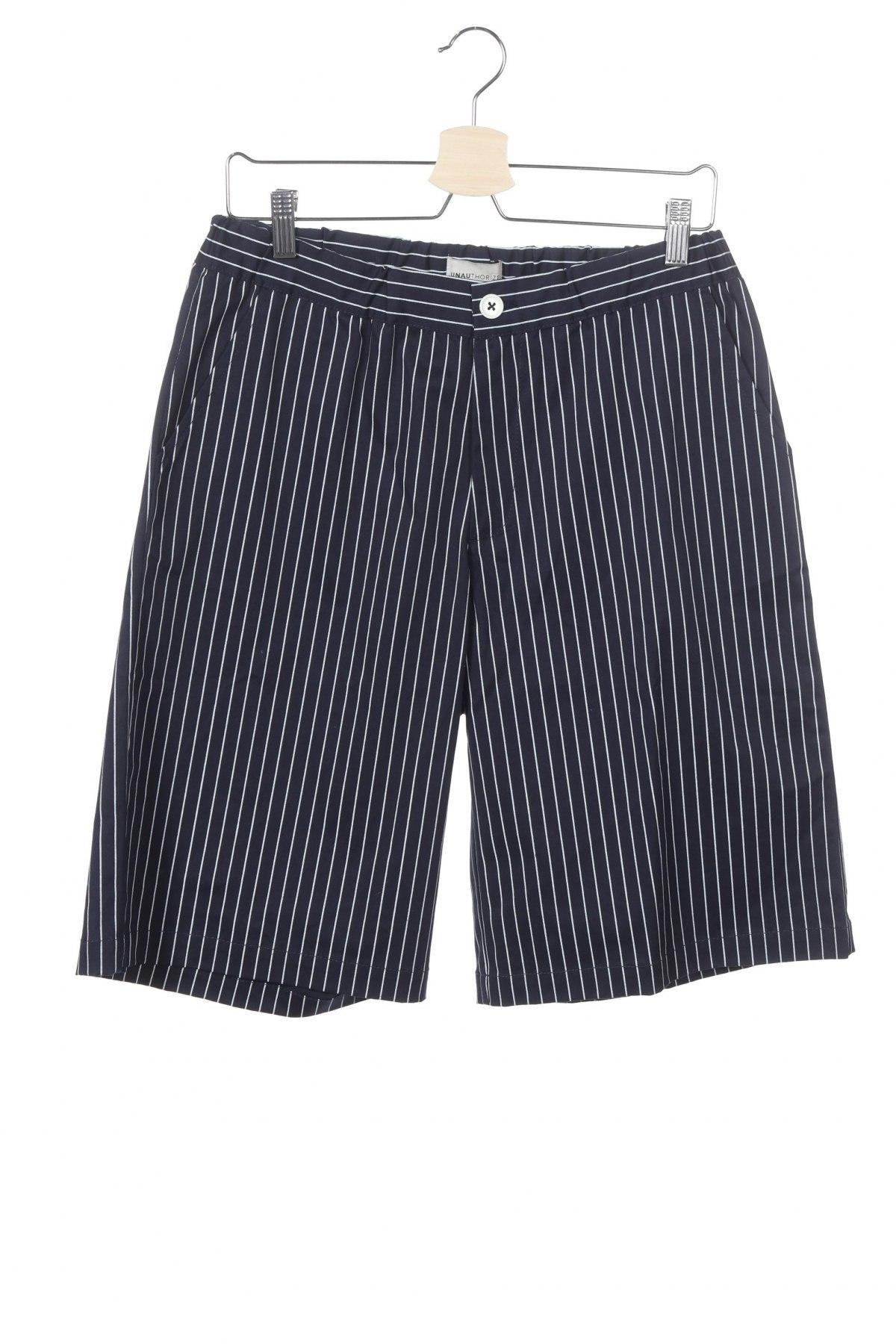 Παιδικό κοντό παντελόνι Unauthorized, Μέγεθος 15-18y/ 170-176 εκ., Χρώμα Μπλέ, 97% βαμβάκι, 3% ελαστάνη, Τιμή 12,06€
