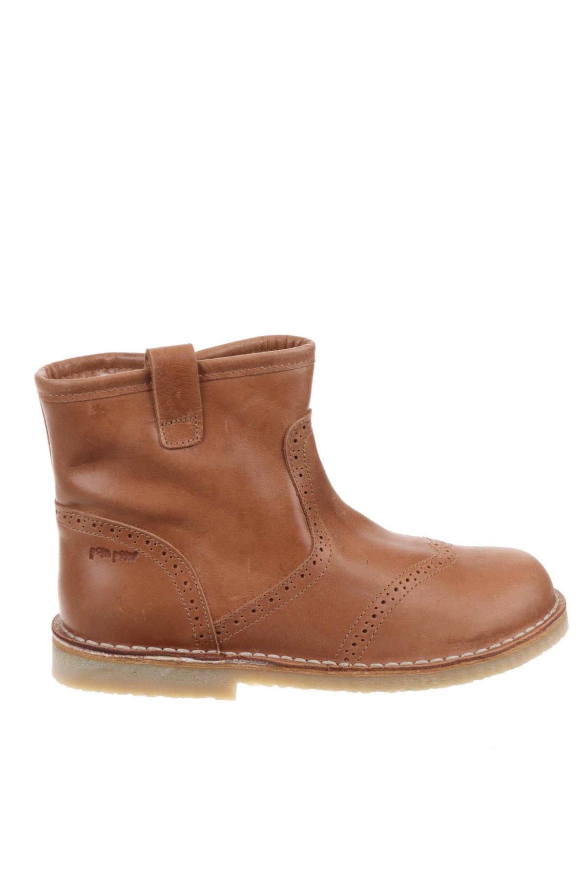 Детски обувки Pom Pom, Размер 33, Цвят Кафяв, Естествена кожа, Цена 49,02лв.