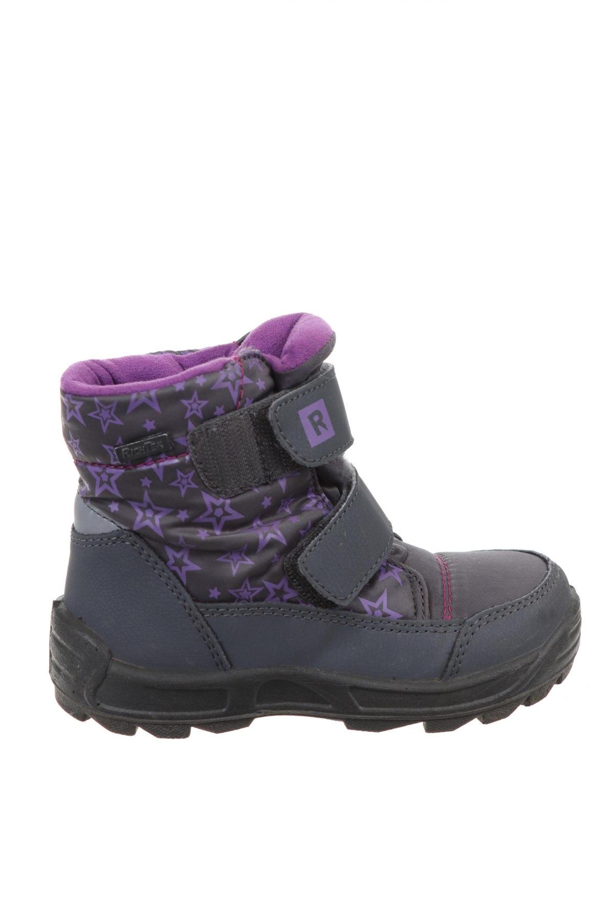 Παιδικά παπούτσια Richter, Μέγεθος 26, Χρώμα Γκρί, Δερματίνη, κλωστοϋφαντουργικά προϊόντα, Τιμή 9,90€